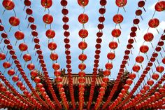 Red Lanterns for Chinese New Year, China.