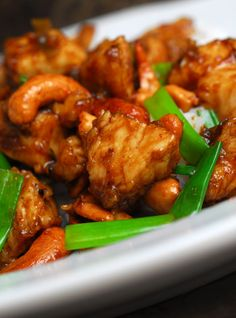 Scrumptious Cashew Chicken--Serve  with a side of white rice and fortune cookies, if you have them. :)