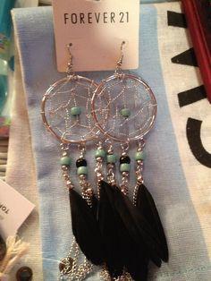 Oversize dream catcher earrings!