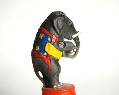 Vintage Cast Iron Williams Circus Elephant Bank Reproduction