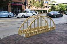 Downtown Pittsburgh now has five new bike racks that double as public art installations. Or are they art installations that doubles as bike racks?
