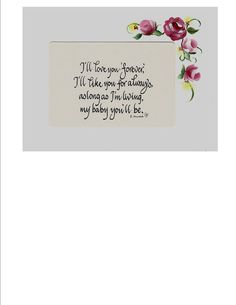 Hand Painted Mat Card Calligraphy Rober by CalligraphicArtisan, $8.00