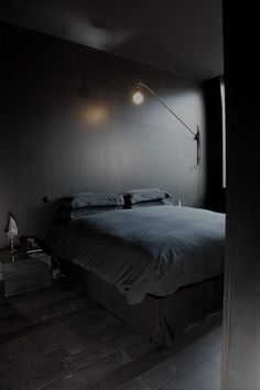 dark bedroom decor.. HIS But, this makes me think of living creatures in those deep sea documentaries that live with no light and very little else exists.