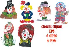 Clowns, Clowns Clip Art Clipart, Funnyman Clipart, Clipart, Harlequin Funster Clipart