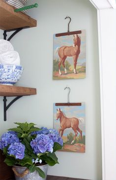 the lettered cottage Vintage Paint-by-Number Paintings http://theletteredcottage.net/vintage-paint-by-number-paintings/ via bHome https://bhome.us