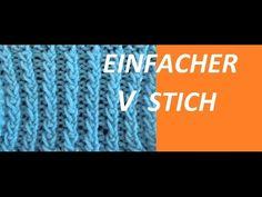 Strickmuster * EINFACHER V STICH *