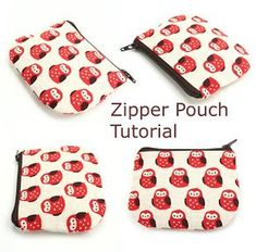 Hello Sugar Cane: Handmade Zipper Pouch Tutorial