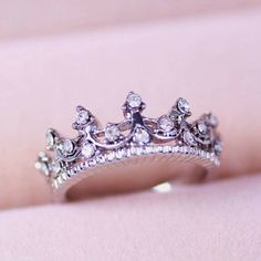bling crown ring