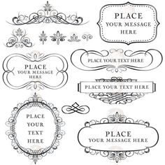 Flourish Frame Calligraphy Vintage Digital Clip by MayPLDigitalArt