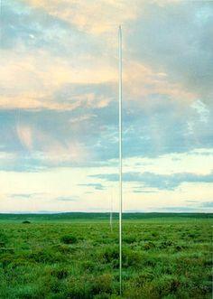 """""""The Lightning Field"""" - Walter De Maria"""
