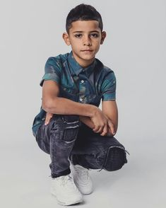Cristiano Ronaldo shares the spotlight for his latest campaign. The famous soccer player is joined by his son Cristiano Ronaldo Jr. for Denim's… Cristiano Ronaldo Cr7, Ronaldo Juventus, Cr7 Jr, Cr7 Junior, Kids Photography Boys, Sports Celebrities, Football, Soccer Players, Cute Boys