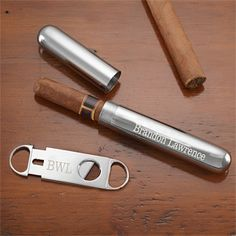 Give that special man in your life a gift they can cherish forever with the Personalized Silver Cigar Case & Cigar Cutter Set. Find the best personalized mens' gifts at PersonalizationMall.com