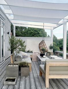 Pergola Attached To House Decks Home - Pergola Terrasse Suspendue - - Pergola With Roof Ideas - Contemporary Pergola DIY - Pergola De Madera Balcon Backyard Pergola, Pergola Shade, Patio Roof, Back Patio, Pergola Roof, Roof Balcony, Small Patio, Backyard Pools, Cheap Pergola