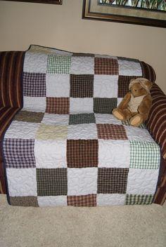 Homespun Rustic Plaid Fabrics Patchwork Quilt
