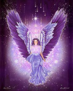 Violet Amethyst Angel, Star Grace - Pleiadian Angel, Angels of Light, Elohim of the Violet Ray, Guardian Angel, Sacred Geometry