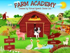 Farm Academy is a fun and colorful iPad and iPhone app that was created by a certified speech and language pathologist for younger children (18 months–3 years or up). ($0.99)