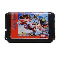 Gunstar Heroes 16 Bit MD Game Card Cartridge for Sega MegaDrive Genesis System P