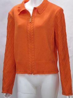 St. John Santana Knit Orange Jacket Blazer #StJohn #Blazer