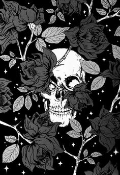 skullington and roses Wallpaper World, Skull Wallpaper, Dark Wallpaper, Galaxy Wallpaper, Wallpaper Backgrounds, Amazing Backgrounds, Aesthetic Iphone Wallpaper, Aesthetic Wallpapers, Fantasy Kunst