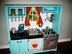 Childrens Kitchen from Planet of the Apels #upcycle #diy