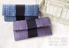 portafogli con la seta delle cravatte, pezzi unici fatti a mano