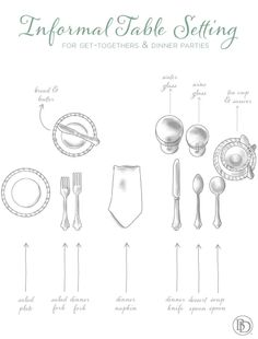 Guide to setting your table for informal occasions
