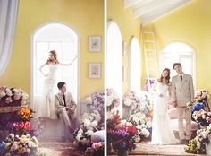 Korean Studio Pre-Wedding Photography: 2016 Whimsical Collection  by Bong Studio…