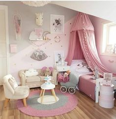 Toddler Girl Bedroom Decor Fun Girls Bedroom Decor Ideas Cute Room Decorating In Pink For Girls Toddler Girl Room Decorating Ideas Diy Daughters Room, Baby Bedroom, Girls Bedroom Pink, 4 Year Old Girl Bedroom, Master Bedroom, Girls Bedroom Canopy, Boys Bedroom Ideas 8 Year Old, Unicorn Bedroom Decor, Music Bedroom