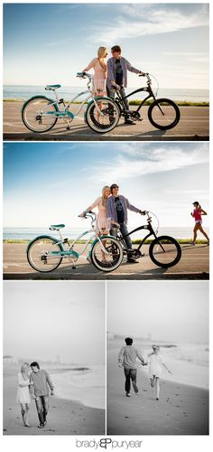 Super fun beach engagement session! More photos here. http://www.bradypuryearblog.com/2013/05/santa-monica-engagement-session-hunter-and-heidi/