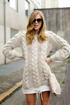 Stylish Long Warm Sweater