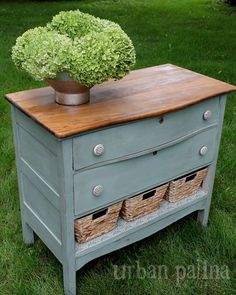 Misfit Dresser Makeover - You can't tell from these after pictures, but this dresser was in pretty tough shape when I hauled it home.