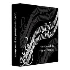 Musical notes binders, DIY color