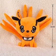 "Anime Naruto Uzumaki Kyuubi Kurama Nine-Tales Fox Demon 10"" Plush Stuffed Doll"