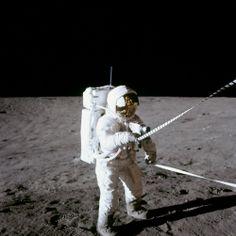 Apollo 12 astronaut Pete Conrad, on the lunar surface
