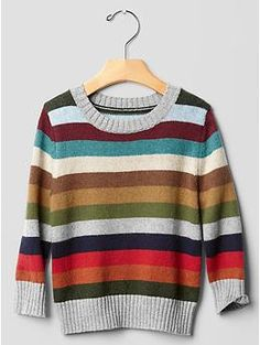 Holiday stripe crewneck sweater for charlie