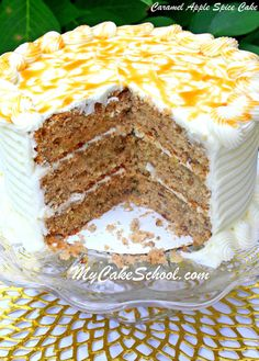 Amazing Caramel Apple Spice Cake Recipe from Scratch! Recipe by MyCakeSchool.com. Online cake classes, recipes, videos, and more!