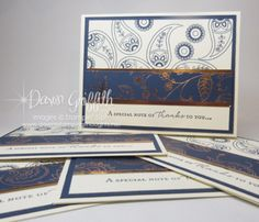 Paisley Thank you cards | Dawn's Stamping Thoughts | Bloglovin'