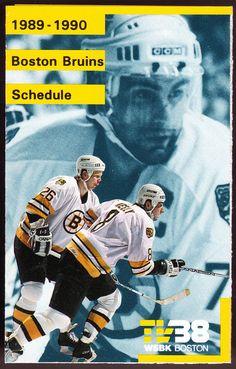 1989-90 BOSTON BRUINS BUDWEISER BEER HOCKEY POCKET SCHEDULE FREE SHIPPING #PocketSchedules