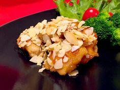 まるま's dish photo ゆっこさんの アーモンド照り焼きチキン | http://snapdish.co #SnapDish #レシピ #おつまみ #焼く/炒め物 #肉料理