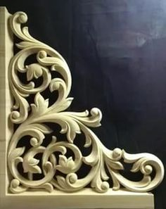 Wood Carving Designs, Wood Carving Patterns, Wood Carving Art, Stone Carving, Carved Wood Wall Art, Art Carved, Wooden Art, House Arch Design, Cnc Cutting Design
