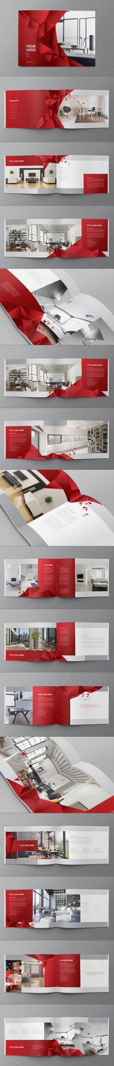 Interior Design Brochure by Abra Design, via Behance: