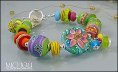 Cote d'Azur ♥ DESIGN and Beads by MICHOU 2012 - ARMSCHMUCK von MICHOU - Armbänder & Armreife - Glasschmuck - DaWanda