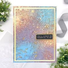 SSS – Rainbows Release Diy Cards, Your Cards, Cards For Friends, Friend Cards, Spectrum Noir Markers, Layer Paint, Artist Trading Cards, Simon Says Stamp, Mixed Media Canvas