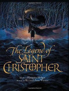 Legend of Saint Christopher by Margaret Hodges,http://www.amazon.com/dp/0802853609/ref=cm_sw_r_pi_dp_X7ewtb105GT95WW5
