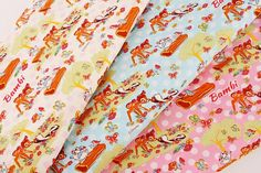 Hey, I found this really awesome Etsy listing at https://www.etsy.com/listing/543931339/disney-bambi-character-fabric-made-in Bambi Characters, Disney Fabric, Cotton Quilting Fabric, Japanese Fabric, Fat Quarters