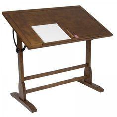 "42"" Vintage Drafting Table (Rustic Oak) (34""H x 42""W x 30""D)"