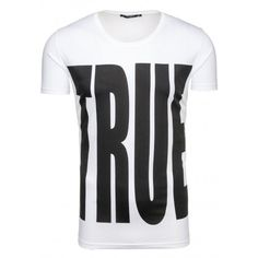 Sexi tričko pre pánov bielej farby - fashionday.eu