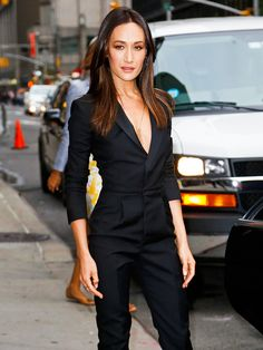 Star Tracks: Wednesday, October 1, 2014 | ALL FOR ONE | Maggie Q looks sleek and chic in a black bodysuit while heading out of the Ed Sullivan Theater after taping the Late Show with David Letterman in N.Y.C. on Tuesday, where she promoted her new CBS show Stalker.