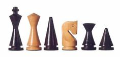Chess sets from The Chess Piece chess set store: The Modern Staunton, Carved Wooden Chess Pieces