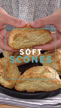 My favorite soft scone recipe! Perfect plain scones that can be flavored any way you like! #bakedbyanintrovertrecipes #scones #breakfast #bread